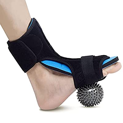 Plantar Fasciitis Splint Night – Ultimate Foot Brace For Pain Relief – Perfect for Achilles Tendonitis by Hourten