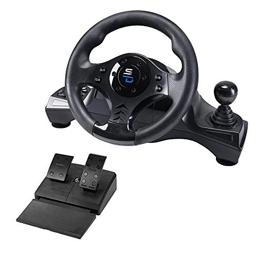 Superdrive - Rennlenkrad GS750 Drive Pro lenkräd mit Pedalen, paddels, Schalthebel und Vibration für Xbox Serie X/S, PS4, Xbox One, PC (programmierbar für alle Spiele)