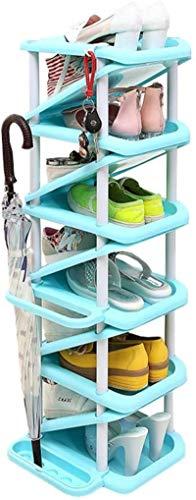 Ranuras de zapato ajustables Organizador Bastidore Estante de zapatos Zapato de zapatos Multi capa Perchero Creativo Rack de almacenamiento de gran capacidad para almacenar paraguas, ahorro de espacio