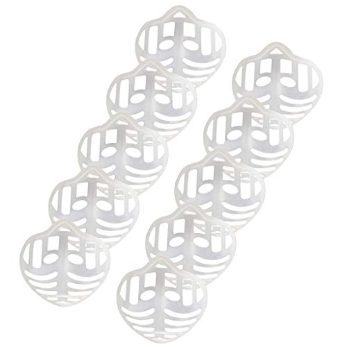 N-T 10 Stück Unisex 3D Mundschutz Halterung Silikon, Erwachsene Face Cover Bandana Halterung, Bequeme Kieselgel, vergrößert den Atemraum, um das Atmen zu erleichtern