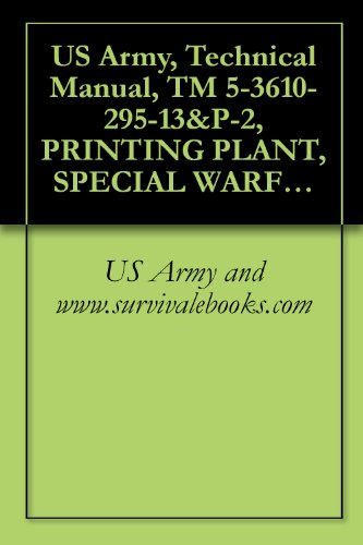 US Army, Technical Manual, TM 5-3610-295-13&P-2, PRINTING PLANT, SPECIAL WARFARE, TRANSPORTABLE (NSN 3610-01-106-2276) (APPLICABLE TO SE NUMBERS 0013 THROUGH ... ITEM INCLUDED IN EM 0165) (English Edition)