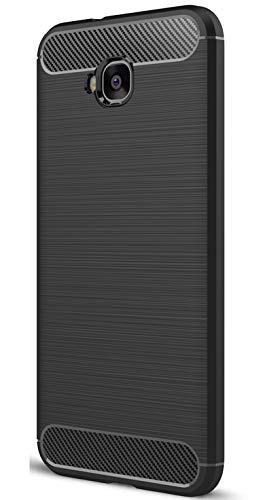 XINFENGDI Asus Zenfone 4 Selfie ZD553KL Hülle, Tasche mit Stoßdämpfung Robuste TPU Stylisch Karbon Design Handyhülle Case Hülle für Asus Zenfone 4 Selfie ZD553KL - Schwarz