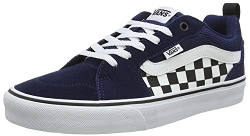 Vans Filmore Suede/Canvas, Sneaker Uomo, Checkerboard/Dress Blues/White, 47 EU