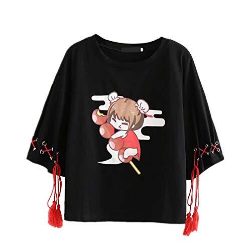 Harajuku - Camiseta de manga corta con...