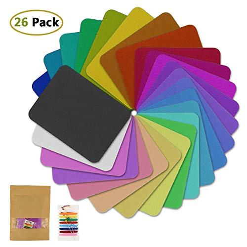 Aliyer 26 Stück Bügelflicken Patch Kleidung Sofa Tuch Patches zum Aufbügeln Aufbügelflicken Patch Zum Bügeln Und Nähen. (Twill Fabric)
