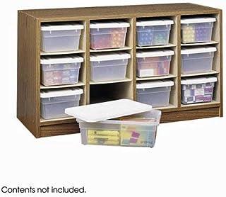 Safco Supplies Organizer, 12 Compartments, Medium Oak, 9452MO