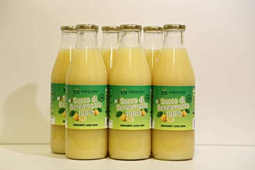 Succo di Bergamotto puro al 100% (una confezione da 6 bottiglie da 1 litro)