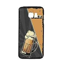 すまほケース ハードケース Galaxy S7 edge SC-02H・SCV33 対応 BEER ビール・ブラック ビンテージ アメリカン レトロ USA SAMSUNG サムスン ギャラクシー エスセブン エッジ docomo au すまほカバー 携帯ケース 携帯カバー beer_00x_h191@01