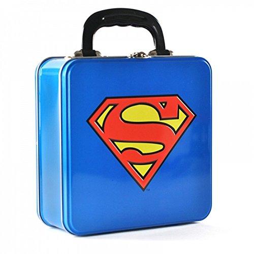 Superman DC Comics Blechkoffer Lunchbox Brotdose - Logo - Beidseitig Bedruckt