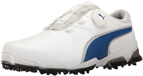 PUMA Men's Titantour Ignite DISC Golf Shoe, White-True...