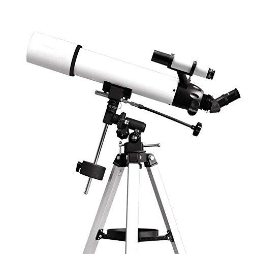Telescopio astronómico telescopio refractor de 90 mm de abertura de 600 mm AZ Monte alta magnificación con bolsa de transporte y soporte for teléfono for ver la Luna y el planeta (Color: Multi-color,