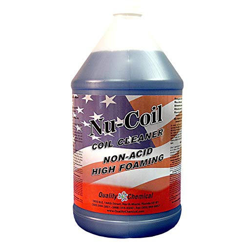 Nu-Coil Professional Grade Concentrated Air Conditioner Alkaline Condenser Coil Cleaner-1 gallon (128 oz.)