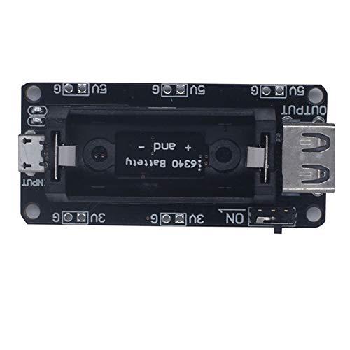 Módulo De Litio Blindaje Cargador De Batería Para Potencia De Salida. Recargable 16340 Tablero Compatible Con Cesp8266 Esp32 Con Entrada Usb Dc 5v Y Salida (batería Individual)