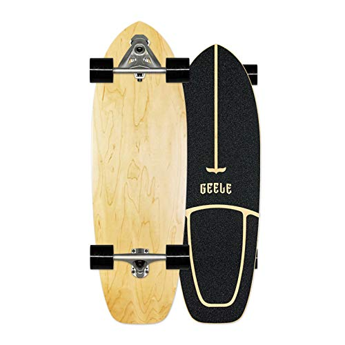 Carver Surfskate Skateboard Carving Pumpping Completo arce tablero 78×24cm, (puente de estructura d
