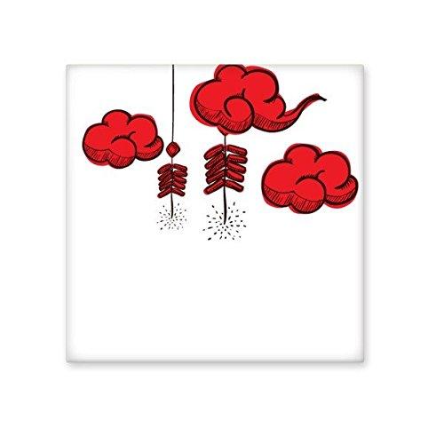 Voetzoekers Chinese sterrenbeeld Gelukkig Nieuwjaar 2017 Jaar van de Haan Patroon Illustratie Keramische Bisque Tegels voor het verfraaien Badkamer Decor Keuken Keramische Tegels Wandtegels M