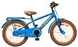 Amigo Sports - Kinderfahrrad für Jungen - 18 Zoll - mit Handbremse, Rücktritt, fahrradständer und Beleuchtung - ab 5-8 Jahre - Blau