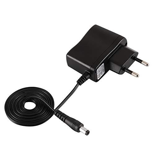 Gobutevphver Adaptador de Corriente UE EE. UU. Reino Unido Entrada AC100-240V 50 / 60HZ 0.2A Salida6V 1000mA Peso Ligero Ancho Compatible Plug and Play - Enchufe Europeo Negro