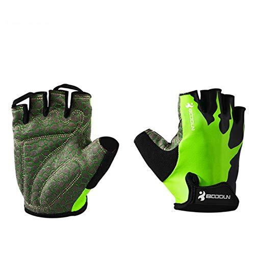 Guantes de entrenamiento Protección completa de palmeras, mejores guantes de ejercicio para gimnasio, ciclismo, levantamiento de pesas, transpirable, súper ligero para hombres y mujeres,Verde,L