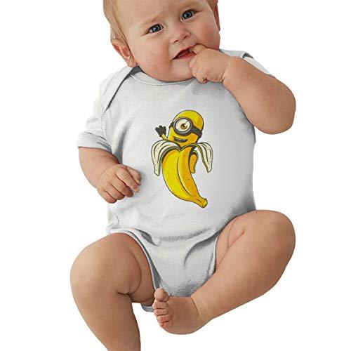 GHYGTY Mini-Ons Baby-Strampler für Neugeborene, superweiche Baumwolle, kurzärmelig, Jersey, Schwarz Gr. 56, weiß
