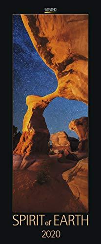 Spirit of Earth 2022: Schmaler Wandkalender. Foto-Kunstkalender über unsere atemberaubende Natur. PhotoArt Vertikal. 28,5 x 69 cm. Edles Foliendeckblatt.