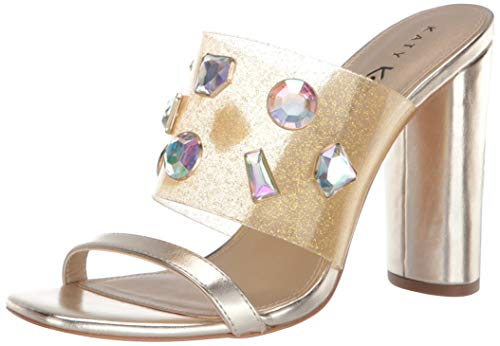 Katy Perry womens The Finca Heeled Sandal Gold 7.5 M