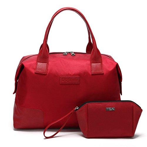 UU Family Oxford-Borsa da viaggio impermeabile da donna Multicolore rosso small