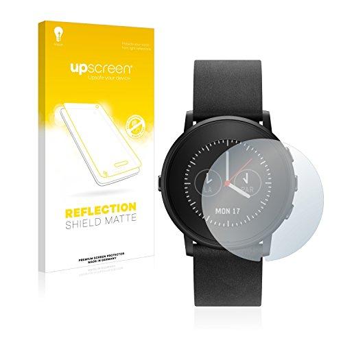 upscreen Entspiegelungs-Schutzfolie kompatibel mit Pebble Time Ro& – Anti-Reflex Bildschirmschutz-Folie Matt