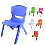 Sedia Colorata per Bambini, Modello Kiki, Ideale per arredo Asilo Nido in Quanto Sedia montessoriana, sediolina Bambini Comoda ed ergonomica, 50 x 36 x 33 cm (Blu, 1)