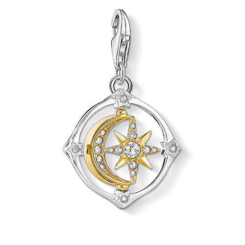 Thomas Sabo Damen Charm-Anhänger Mond & Stern beweglich 925 Sterling Silber 1815-414-7
