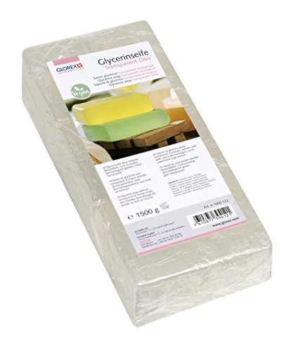 Glorex 6 1600 - Jabón de glicerina ecológico, Transparente, 1500g
