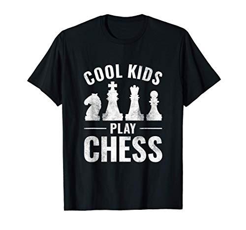 クールな子供たちはチェスをプレイ Tシャツ