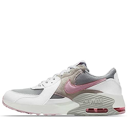 Nike Air Max Excee Sneaker, White/Pink Foam-Grey Fog, 37.5 EU