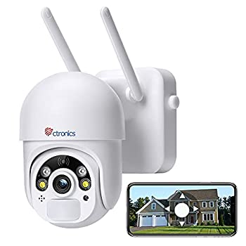 Outdoor Security Camera Battery Powered Ctronics WiFi Wireless Security Camera Pan/Tilt with Color Night Vision PIR and Radar Dual Detection 2-Way Audio for Home Surveillance System