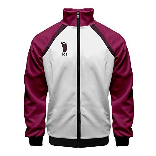 Tanwenling33 Haikyuu Jacke Karasuno Nekoma Aoba Johsai Shiratorizawa Jacket Hoodie Sweatshirt Uniform Volleyball Trikot Halloween Damen Herren