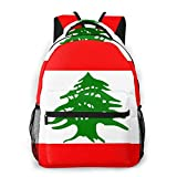 LNLN Mochila Casual para niñas Lebanon Flag Laptop Backpack School Backpack for Men Women Lightweight Travel Casual Durable Daily Daypack College Student Rucksack 11 5in X 8in X 16in