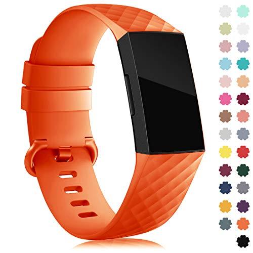 Gogoings Armband Kompatibel mit Fitbit Charge 3/Charge 4 Armband Damen Herren, Klassisch Sport Silikon Ersatzarmband Kompatibel für Charge 4/Charge 3 Special Edition