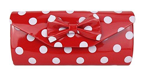 Ella Jonte Tasche rot weiß Punkte Rockabilly by kleine rote Handtasche Clutch