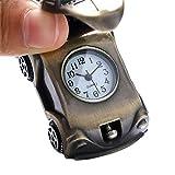 orologio da tasca orologio da tasca al quarzo a forma di automobile adorabile orologio da taschino in bronzo retrò orologio da regalo per bambini ragazzi migliori regali di compleanno