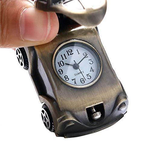 DIHAO Reloj de Bolsillo para Hombre con Forma de Coche Encantador, Collar de Bronce Retro de Cuarzo, Reloj, Regalos para niños, Mejores Regalos de cumpleaños