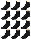 Van Heusen Men's Socks - Performance Cushioned Above Ankle Athletic Quarter Mini-Crew Socks (12 Pack), Size Shoe Size: 6-12.5, Black