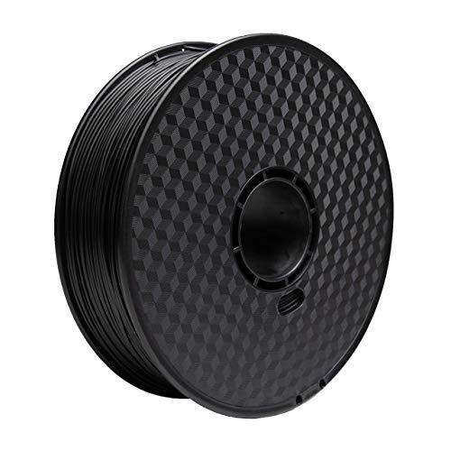 3D Printer Filament, JPINES 1.75mm PLA Filament, Printing Materials, 3D Printing Filament PLA for 3D Printer 1kg 2 Colors (Black,White)