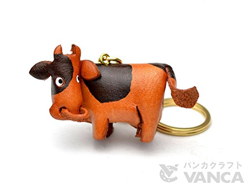 [Handmade made in Japan, new, leather craftsman] KH story keychains cow [VANCA] (japan import)