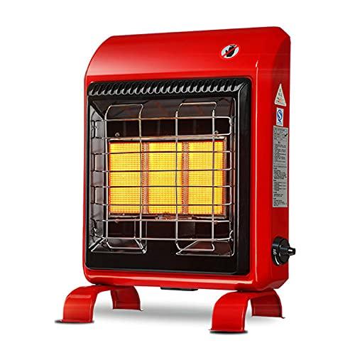 HOME UK Estufa de Gas GLP a infrarrojo, Estufa de Gas Thermo Antracita, Calentador de Gas portátil, Placa calefactora de cerámica, 3 configuraciones de Calor, Triple Sistema de Seguridad