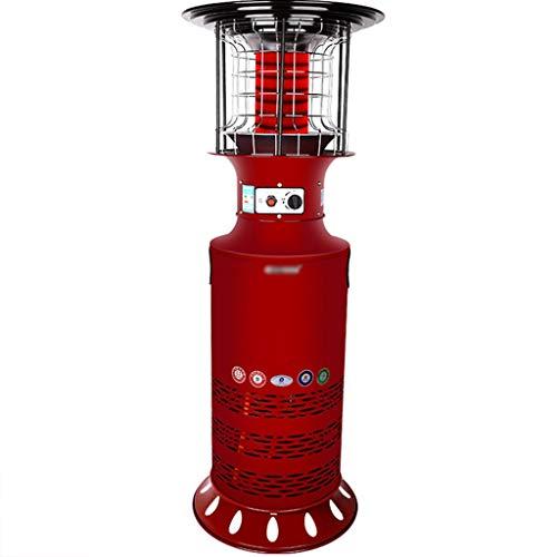 Calentadores y estufas Calentador exterior butano Calentador De Gas Cilíndrico Al Aire Libre, Tostador De Gas Natural Vertical De 360 °, Estufa De Calentamiento Rápido De Bajo Consumo De Pat