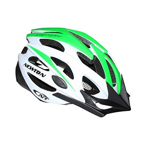 Newton fietshelm volwassenen Route-Vtt Victory groen-wit maat 58-61 met klep en vergrendeling (uitverkocht in doos)