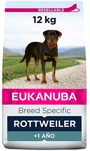 EUKANUBA Breed Specific Alimento seco para perros rottweiler adultos, alimento para perros óptimamente adaptado a la raza 12 kg