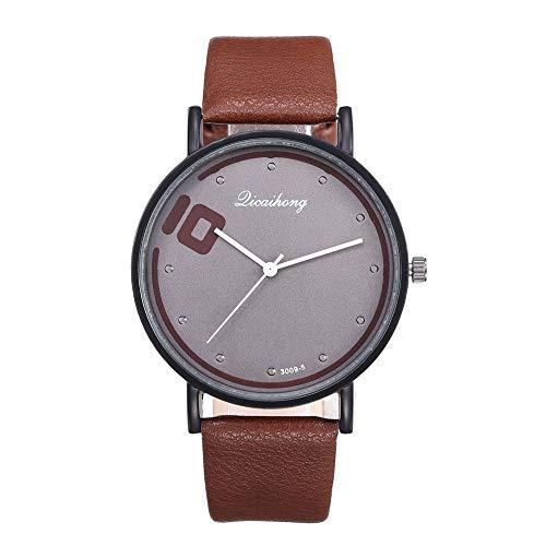 AxiBa – Relógio masculino de couro de bezerro – Vestido + Design Casual – Coleção de relógios masculinos, D, one size