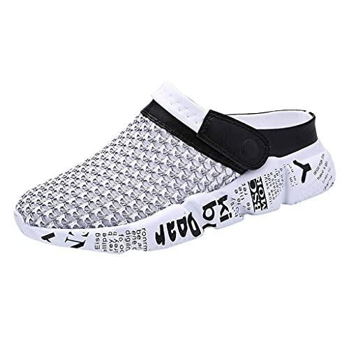 WJYCGFKJ Zuecos de jardín Zapatos Mujer Hombre Malla Zapatillas de Secado rápido Sandalias de Playa