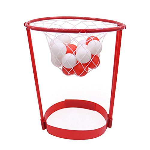 LIOOBO Stirnband Hoop Ball Fang Basketball Spiel Kopfband Party Favors Outdoor Eltern-Kind Spielzeug (Rot)