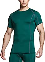 TSLA Men's (Pack of 1, 2, 3) Cool Dry Short Sleeve Compression Shirts, Athletic Workout Shirt, Active Sports Base Layer...
